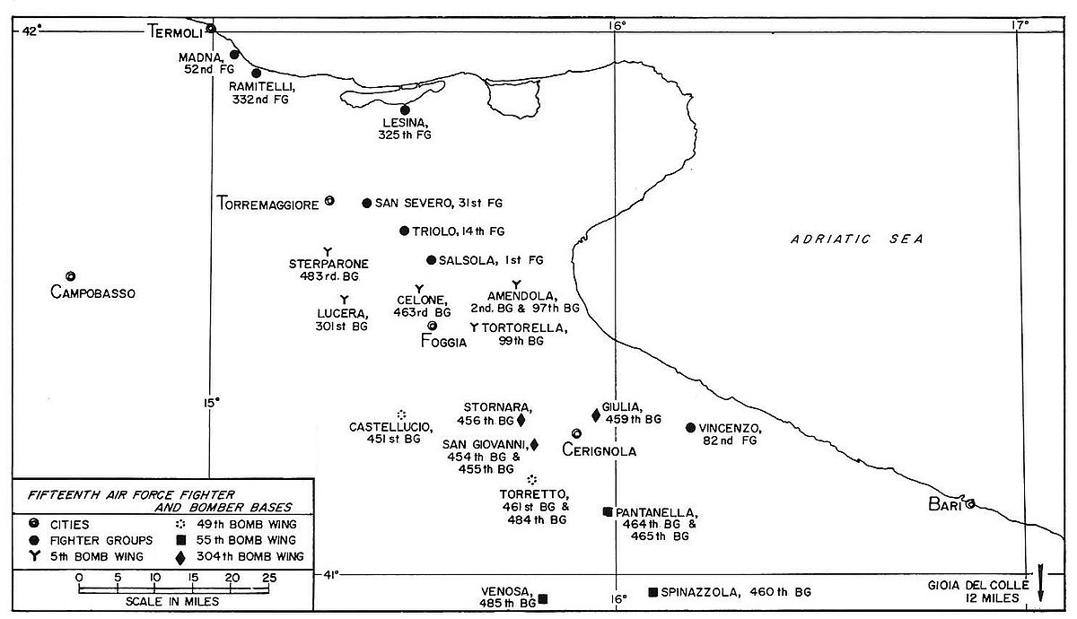 Foggia Airfield Complex Wikipedia - Us air force bases in italy map