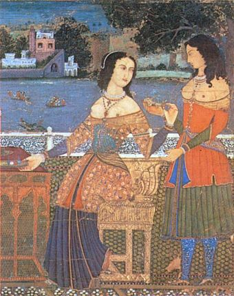 Portuguese women in Goa, India, 16th century 1600gora.jpg