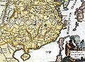 1650 Map of Formosa (Taiwan), Philippines, Tibet, Japan, Korea, and China by Italian 義大利人所繪福爾摩沙-臺灣, 菲律賓, 中南半島, 圖博(西藏), 高麗, 日本, 與中國.jpg