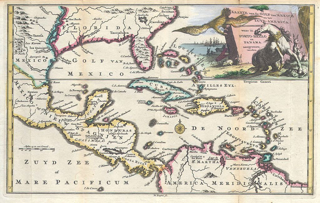 File:1747 Ruyter Map of Florida, Mexico and the West