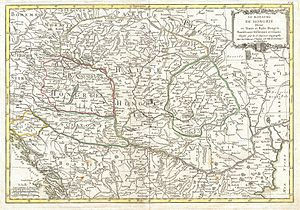 Lands of the Hungarian Crown - Le Sieur Janvier's map of Hungary (1771)
