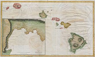 Third voyage of James Cook - Map of the Hawaiian Islands made by one of Cook's officers.