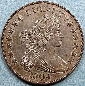 Draped Bust dollar - A Class I 1804 dollar