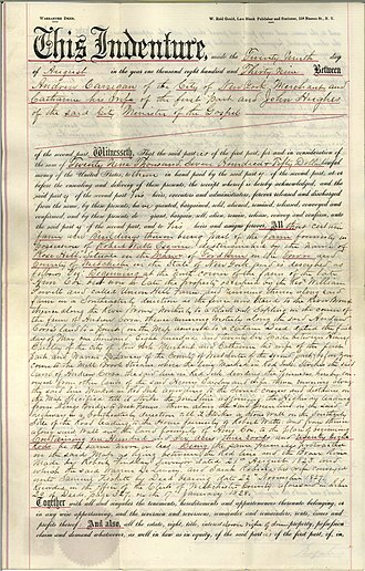 Fordham University - 1839 deed to St. John's College and St. Joseph's Seminary