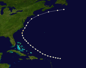 1867 Atlantic hurricane season - Image: 1867 Atlantic hurricane 2 track
