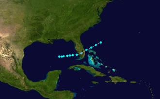 1878 Atlantic hurricane season - Image: 1878 Atlantic tropical storm 1 track