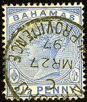 1897 Half Bahamas Nassau C SG52.jpg