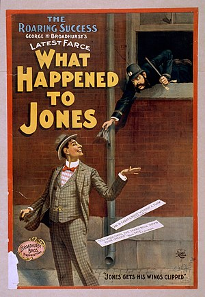 "George Howells Broadhurst - Poster for Broadhurst's ""What Happened to Jones,"" 1897 (Library of Congress)"