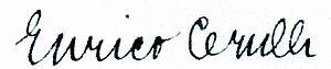 Enrico Cerulli - Signature Enrico Cerulli (1917)