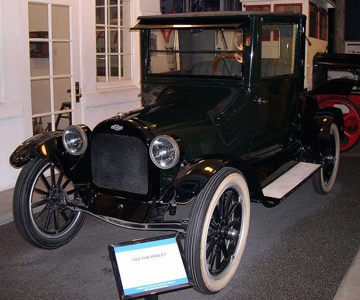 Los Angeles Chevrolet Dealer In Cerritos: Fil:1922 Chevrolet.jpg