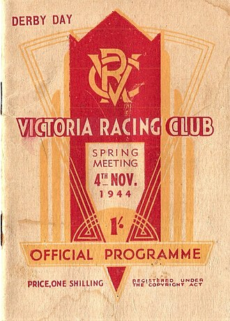 Tranquil Star - Image: 1944 VRC L.K.S. Mackinnon Stakes Racebook P1