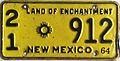 1964 New Mexico license plate.JPG