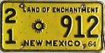 1964 New Mexico license plate.JPG