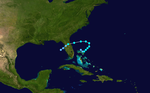 1965 Atlantic tropical storm 9 track.png