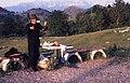 1976 Farmer selling cheese in Romania.jpg