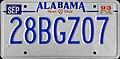 1993 AL passenger plate.jpg