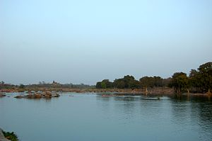 Betwa River - Betwa River near Orchha