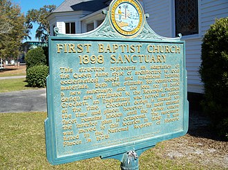 First Baptist Church (Madison, Florida) - Image: 1st Baptist Church Madison marker 01