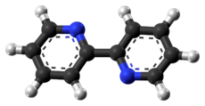 Ball-and-stick model of the 2,2′-bipyridine molecule