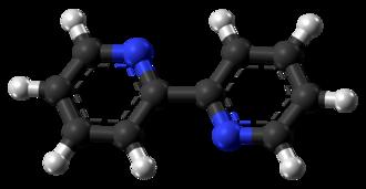 2,2'-Bipyridine - Image: 2,2' Bipyridine transoid molecule from xtal ball