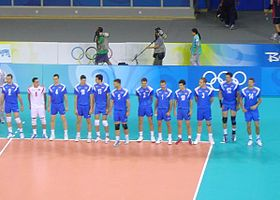 2008 Olympic Volleyball team Serbien.JPG