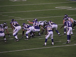 Bryant McKinnie - McKinnie (74) with the Vikings.