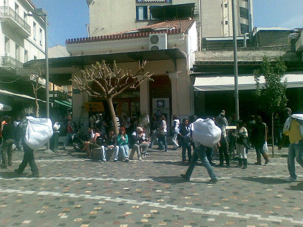 20100405 black immigrants Monastiraki Athens Greece