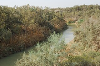 Jordan River river in West Asia flowing to the Dead Sea