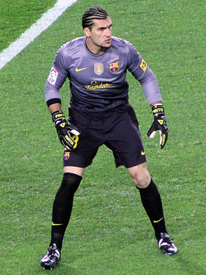 José Manuel Pinto - Pinto playing for Barcelona in 2012