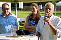 2014-06-04 17. Boulefestival Hannover, FairPlayPromiBoule, (02) v. l. Carsten Fitschen, Anna und Jürgen Piquardt am Mikrofon.jpg