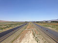 2014-06-12 11 05 41 View east along Interstate 80 and north along U.S. Route 95 from the Exit 173 overpass in Winnemucca, Nevada.JPG