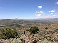 "2014-06-13 12 33 11 View west from the summit of ""E"" Mountain in the Elko Hills of Nevada.JPG"