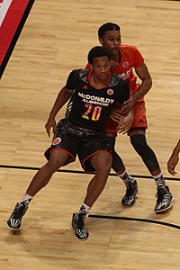 20140402 MCDAAG Rashad Vaughn fights for position.JPG