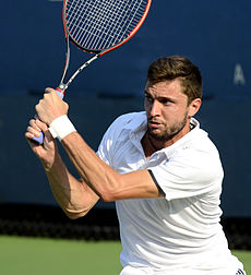 2014 US Open (Tennis)- Tournament - Gilles Simon (15110758212).jpg