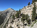 2015-07-13 09 21 32 View southwest along the North Loop Trail towards Charleston Peak about 7.4 miles west of the trailhead in the Mount Charleston Wilderness, Nevada.jpg