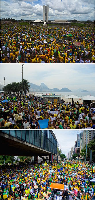 2015–16 protests in Brazil - Image: 2015 Brazil protests collage