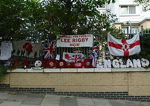 Murder of Lee Rigby - The murder site in 2015