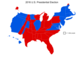2016 presidential election electoral college cartogram.png