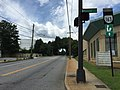 2017-06-25 12 10 25 View south along Virginia State Route 163 (Fifth Street) at Monroe Street in Lynchburg, Virginia.jpg