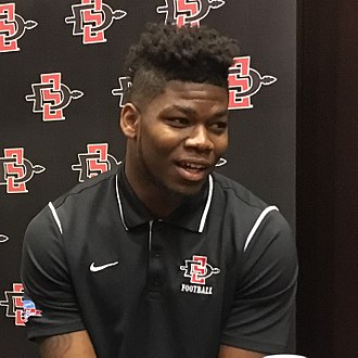 Rashaad Penny - Penny at 2017 Mountain West media day