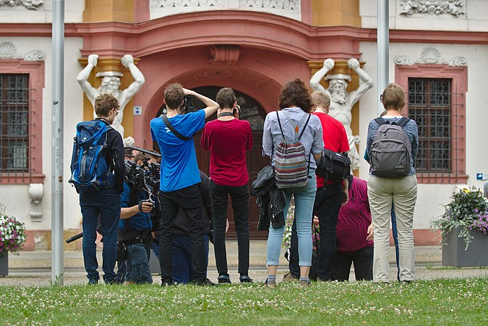 Participants of the youth photo workshop in Erfurt, Germany