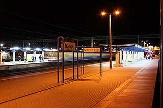 railway station in Tczew, Poland