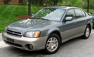 2000-2004 Subaru Outback photographed in Colle...