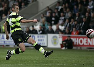 Niall McGinn -  as McGinn making a pass.