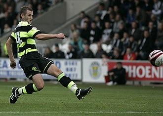 Niall McGinn -  as McGinn making a pass.