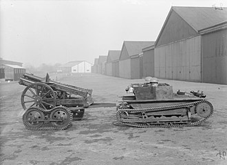 Light tanks of the United Kingdom - A Carden-Loyd tankette towing a howitzer.