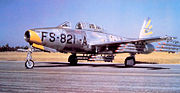 31st FEW Republic F-84G-1-RE Thunderjet 51-821