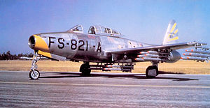 31st Fighter Wing - 31st Fighter-Escort Wing Republic F-84G-1-RE Thunderjet 51-821 Turner AFB, Georgia, 1952.