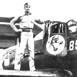 32d Air Operations Squadron - 32d Fighter Squadron P-39 with squadron emblem, Hato Field, Curaçao, March 1944