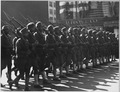 "367th Regiment Infantry, The ""Buffaloes,"" presented with colors. The ""Buffaloes"" marching in revie . . . - NARA - 533597.tif"